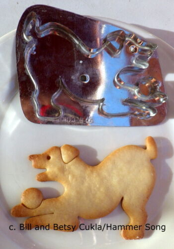 RETIRED B. CUKLA/HAMMER SONG DOG WITH BALL/PLAYFUL DOG PUPPY COOKIE CUTTER