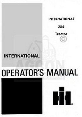 Farmall International 284 Operators Instruction Manual