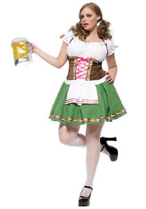 Halloween Plus Size Complete German Bar Maid - NEVER WORN!!!!