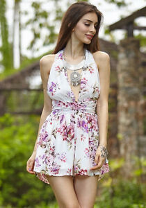 BRAND NEW Crisscross Multiple- Tie Flower Print Romper Playsuit Kitchener / Waterloo Kitchener Area image 6