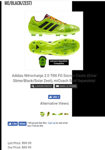 Adidas nitrocharge 2.0 soccer cleats
