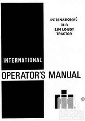 International Harvester Cub Lo-boy Loboy 184 Tractor Owner Operators Manual Ih