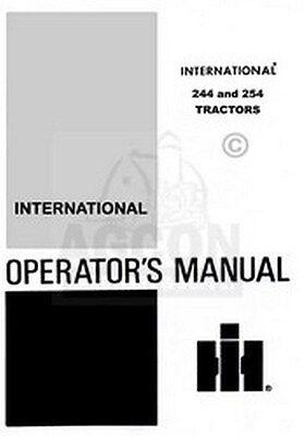 International 244 254 Tractor Owner Operators Manual Ih