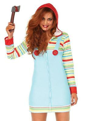 Cozy Killer Doll Scary Chucky Girl Fancy Dress Up Halloween Sexy Adult Costume - Chucky Doll Costume Adults