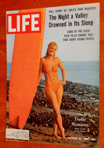 1964 LIFE MAGAZINE COVER - SURFER GIRL + FORD GALAXIE AD ON BACK