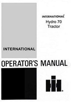 International Hydro 70 Tractor Operators Manual