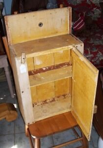 Antique Wooden Cabinet  - great for Bathroom or Mud Room