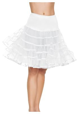 Leg Avenue Mid Length Petticoat Dress White One Size](Mid Length Petticoat)