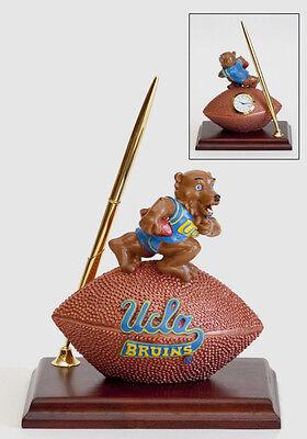 (UCLA Bruins Brown Bear Mascot Desk Set  Pen Clock Football NCAA License College )