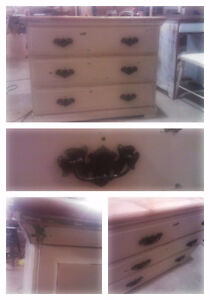 Shabby Chic three drawer chest SOLID WOOD