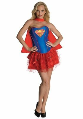 Sexy Supergirl Corset Adult Womens Costume Halloween Superman Extra Small New
