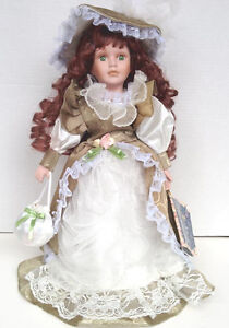 Porcelain Doll Rebecca Collection on Collector  Stand
