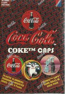 Coca-Cola 1995 Coke Caps Box36 packs - 5 caps per pack
