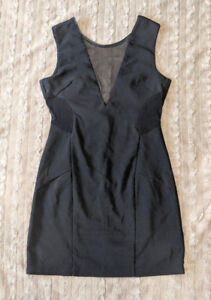 Black party dress with transparent sides and chest area!