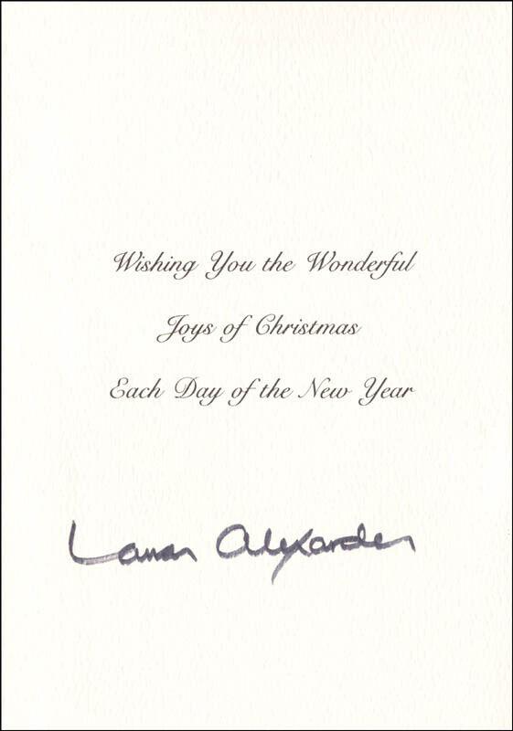 LAMAR ALEXANDER - CHRISTMAS / HOLIDAY CARD SIGNED
