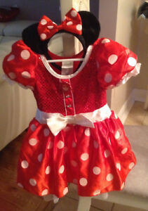 Disney Store Red Minnie Mouse  Costume Size XXS (2/3)