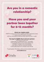 Early Relationship Overtime Study (LOOKING FOR PARTICIPANTS)