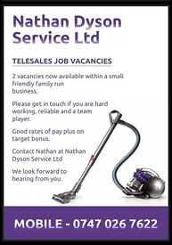 Two telesales jobs