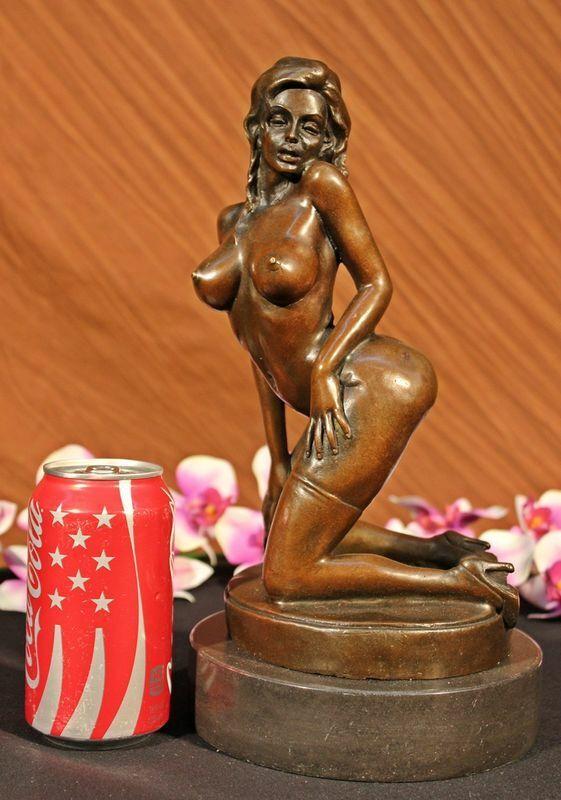 Bronze Sculpture Nude Naked Woman Museum Quality Artwork Figurine Sale Artwork