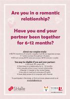 Early Relationships Over Time Study (LOOKING FOR PARTICIPANTS )