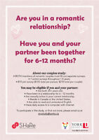 Seeking Couples for a Academic Relationship Study