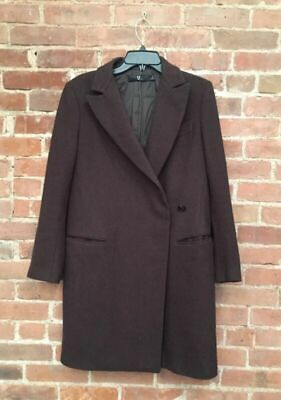 Jil Sander +J For Uniqlo, Ladies Coat Brown, Sz Small