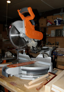 "12"" Ridgid chop saw with stand."