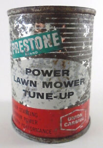 VINTAGE 1960's EVEREADY PRESTONE LAWN MOWER TUNE-UP (4 oz) CAN