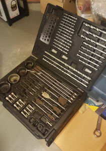 Large Drill Bit Set with carrying case excellent condition