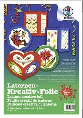 Laternen Kreativ Folie Window Color Mobile Ursus 23cm x 33cm / 0,2mm  - 10 Blatt