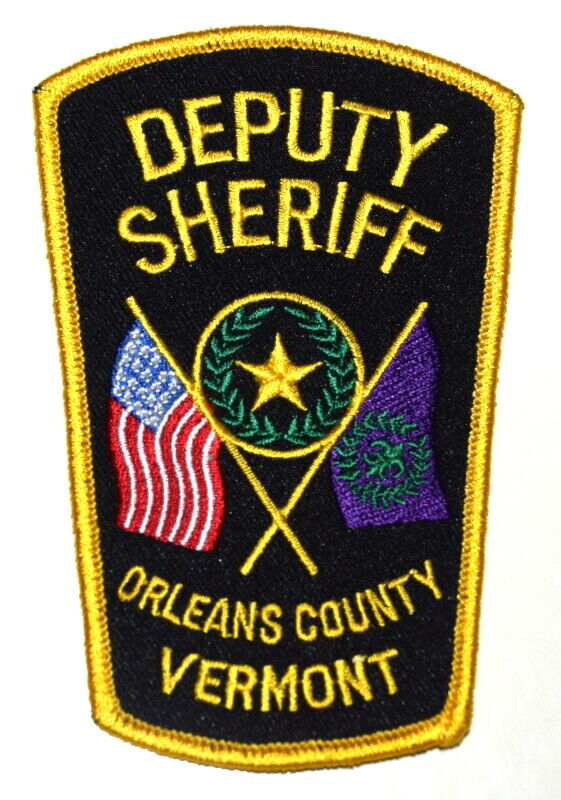 ORLEANS COUNTY – DEPUTY - VERMONT VT Sheriff Police Patch STATE FLAG US FLAG ~