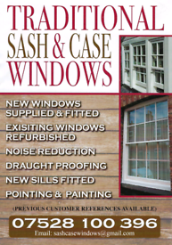 Traditional Sash and Case Windows