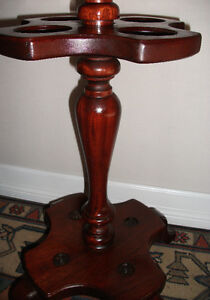 Antique Pool Cue Stand, Solid Mahogany, Delivered