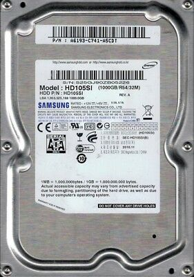 Samsung HD105SI SPINPOINT 1TB SATA P/N: A6193-C741-A5CDT segunda mano  Embacar hacia Argentina