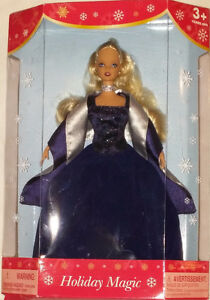 Qty 4 x Barbie Holiday Magic Dolls Red, Blue, Green Dresses NEW London Ontario image 3