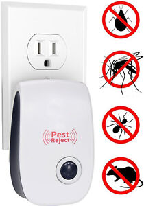 Pest Repeller Ultrasonic Pest Control Roaches Mice Rats Flies