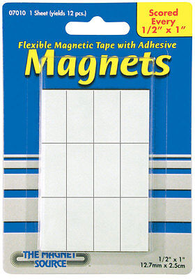 Master Magnetics The Magnet Source .5 In. W X 1 In. L Mounting Tape Black