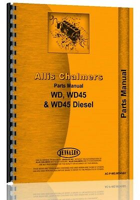 Allis Chalmers Tractor Parts Manual Wd Wd45 Wd45 Diesel