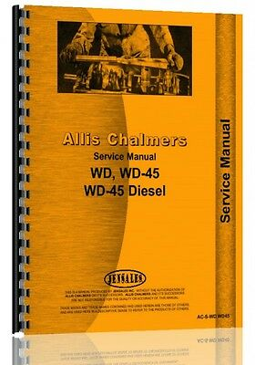 Allis Chalmers Tractor Service Manual Wd Wd45 Wd45 Diesel Ac-s-wdwd45
