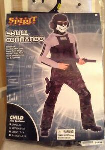 Skull Commando Costume  Boys  Size M (8-10)