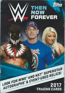 2017 Topps WWE Then Now Forever Hanger Box (42 cards)