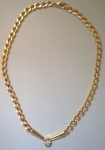 Gold Tone Chain Necklace Costume Jewellery