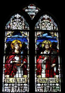 Lampe Médiévale reproduction fenêtre Vitrail Gothique