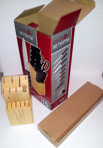 Brand new in box wooden knife block set London Ontario image 5