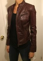 Red Leather Jacket - Small