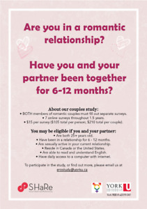 Paid Study on Early Relationships (LOOKING FOR PARTICIPANTS)