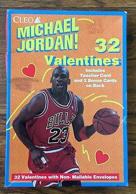 Basketball Valentine's Box (MICHAEL JORDAN BOX OF 32 VALENTINES FROM THE 1990'S UNOPENED)