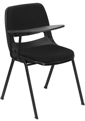Black Ergonomic School Chair With Right Handed Flip-up Tablet Arm Padded Seat