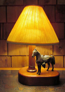 Vintage 1950s Metal Western Horse Lamp Kitchener / Waterloo Kitchener Area image 4