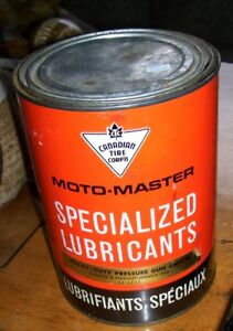 Large Canadian Tire Corp'n Lubricants Tin  Filled